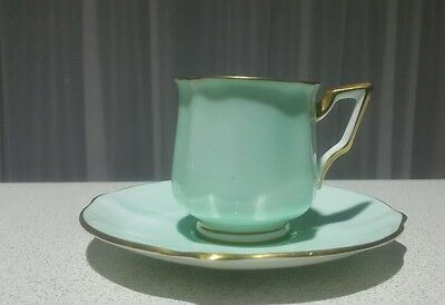 Vintage BELL CHINA Made in England #4595 Small Cup & Saucer Fine Bone