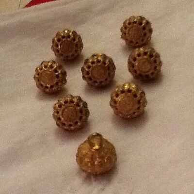 Vintage Gold Lace Metal Buttons