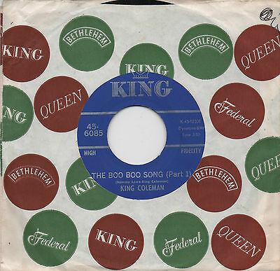 King Coleman - The Boo Boo Song Parts 1 & 2 King US 45 Funk R&B Northern Soul 7