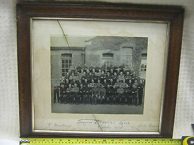 Large Vintage Framed And Glazed Picture Of A Ww1 K Company