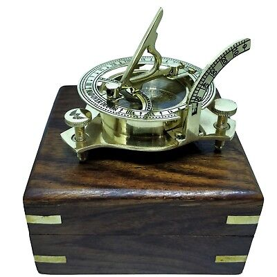 Vintage Maritime Pirate Brass Sundial Compass Nautical Decor Gift Sherlock Fan