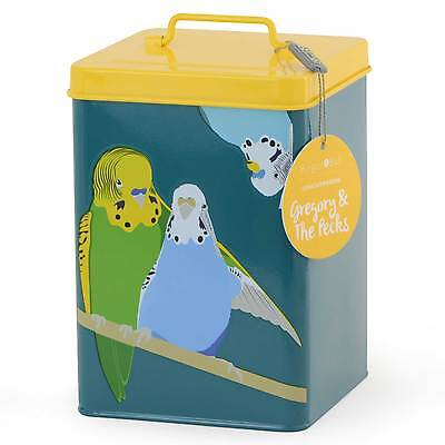 Creaturewares Gregory and the Pecks Budgie Pet Food Tin by Burgon & Ball