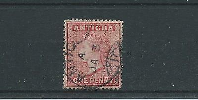 Antigua SG25 1884 1d carmine-red perf 14 Fine Used