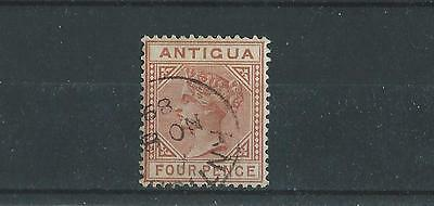 Antigua SG28 1884  4d Chestnut Fine Used