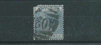 Antigua SG23 1882 4d blue Used ( Blunt corner )