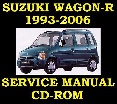 Suzuki WagonR Wagon-R Service Workshop Repair Manual Wiring SR410 SR412 93 to 06