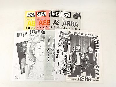 Abba Memorabilia Press Cuttings Fanzines Early 1980's-1990's Very Collectable