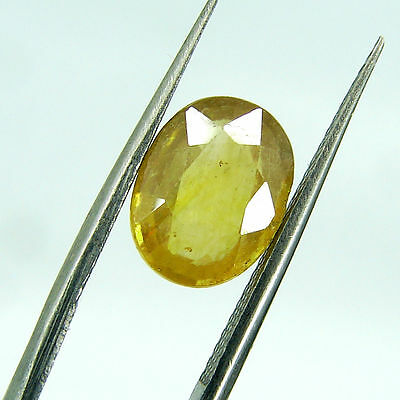 3.45 Ct Certified Natural Yellow Sapphire / Pukhraj Oval Loose Gemstone 108067