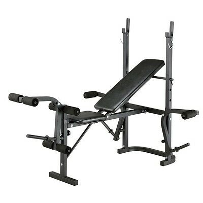 AVC Adjustable Incline All-in-1 Folding Weight Bench Workout Gym Fitness Station