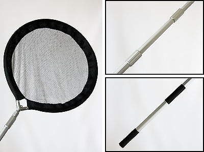 Koi Carp Garden Pond Panning & Inspection Net 44cms with Telescopic Handle