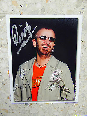 The Beatles / Ringo Starr / Genuine Autograph / Hand-Signed Photograph