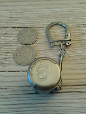 St Christopher  coin holder / keyring  with 2 sixpences
