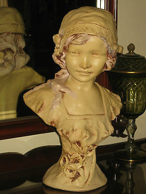 1920/30's French Plaster Bust Of Life Size Proportions