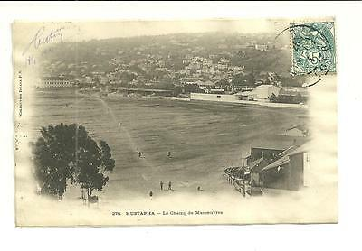 CPA   ALGER  MUSTAPHA - Le Champ de manoeuvres - 1904