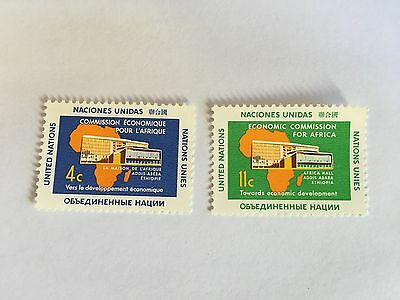 United Nations Unies Un New York Mnh 1961 Africa Economic Commission