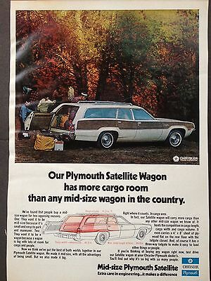 Vintage 1973 Ad (Odl12)~Plymouth Satellite Station Wagon