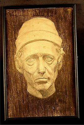 Vintage Portrait Drawing Of A Man Hologram Look To It