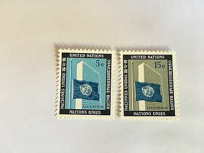 United Nations Unies Un New York Mnh 1962 Memorial Issue