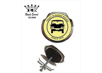 Royale Car Grill Badge & fittings - TRUST IN RANGE ROVER SINCE 1970 - B2.2889