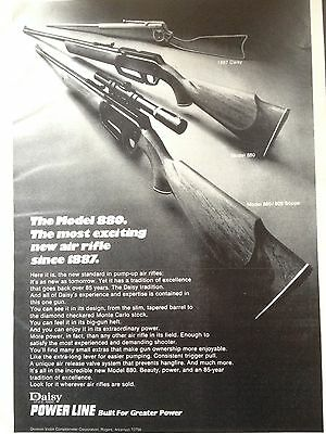 Vintage 1973 Ad (Odl12)~Daisy Air Rifle Model  880