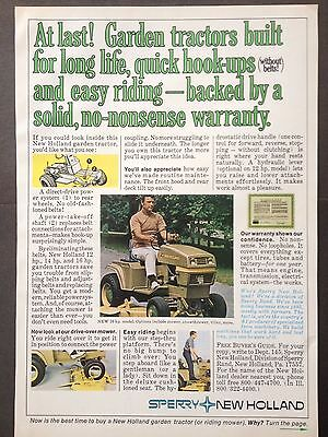 Vintage 1973 Ad (Odl12)~Sperry New Holland Garden Tractor