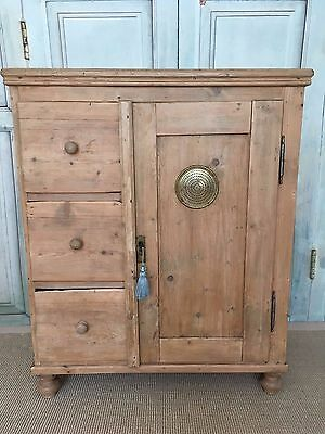 19th Century Continental Pine Food Cupboard, Rustic
