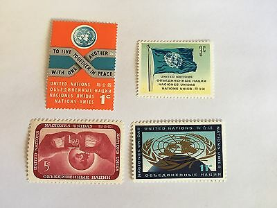 United Nations Unies Un New York Mnh 1962 Definitives