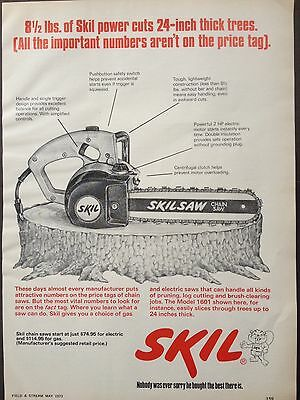 Vintage 1973 Ad (Odl12)~Skil Model 1601 Chainsaw