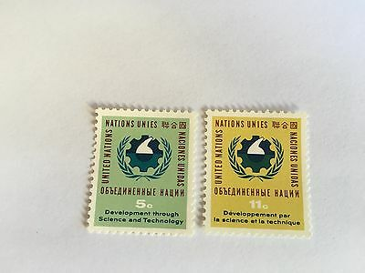 United Nations Unies Un New York Mnh 1963 Science & Technology