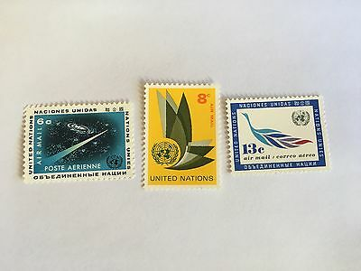 United Nations Unies Un New York Mnh 1963 Airmail