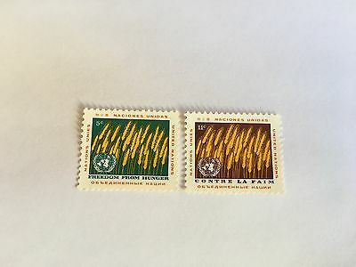 United Nations Unies Un New York Mnh 1963 Freedom From Hunger