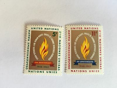 United Nations Unies Un New York Mnh 1963 Human Rights Declaration