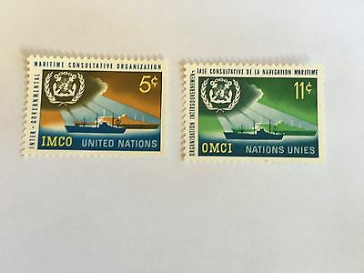 United Nations Unies Un New York Mnh 1964 Imco Maritime Ships Naval