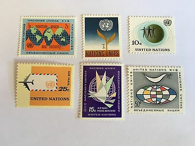 United Nations Unies Un New York Mnh 1964 Definitives