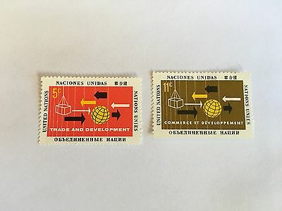 United Nations Unies Un New York Mnh 1964 Trade & Development Conference