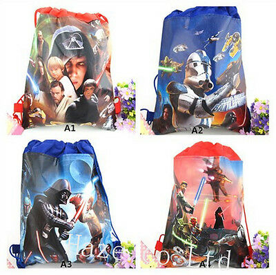 Star Wars Kids Boys Non-Woven Drawstring Bag Swimming Backpack 4 Style