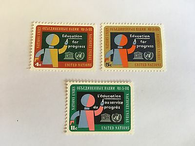 United Nations Unies Un New York Mnh 1964 Education For Progress