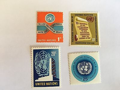 United Nations Unies Un New York Mnh 1965 Definitives