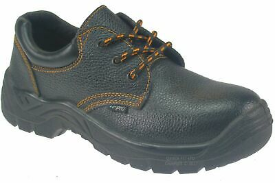New Mens Lightweight Safety Steel Toe Cap Work Leather Shoes Trainers Uk Sizes