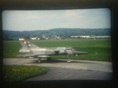 military aircraft slide Swiss Air Force Mirage III RS R-2102 Dubendorf 2002 nffC