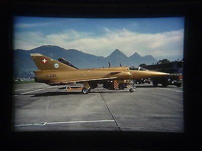 military aircraft slide Swiss Air Force Mirage III S J-2311 Buochs in 1999 (spd)