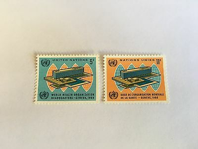 United Nations Unies Un New York Mnh 1966 World Health Organisation Who