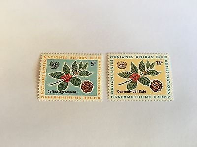 United Nations Unies Un New York Mnh 1966 Intl Coffee Agreement