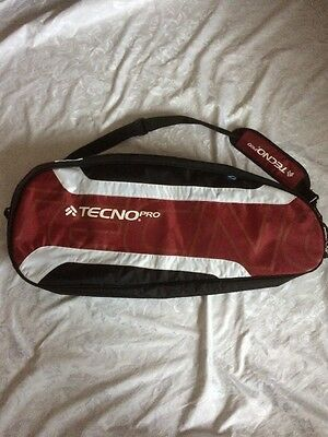 Double Racket Bag - By Tecno Pro - Padded Bag With Adjustable Shoulder Strap