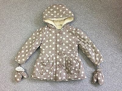 Junior J Jasper Contain Girls Spotty Winter Coat - Age 2-3 Years