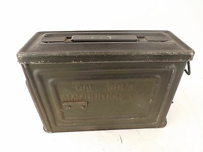 Vintage Military Cal .30 Amunition Tin Box Reeves Us
