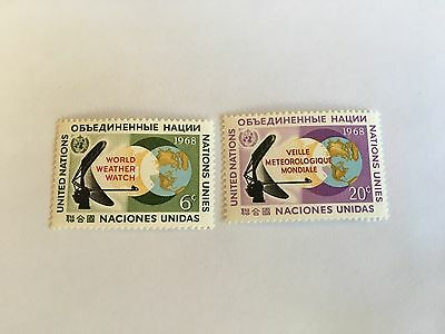 United Nations Unies Un New York Mnh 1968 World Weather Watch