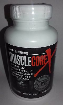 Muscle Core X, Muscle Build Supplement - 60 Capsules Brand New & Sealed