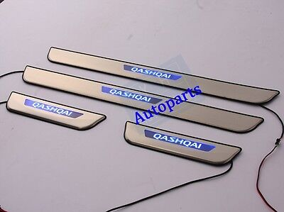 LED Door sill scuff plate For nissan Qashqai 2014 2015 2016 2017