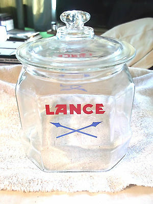 Lance Glass Snack Jar with Glass Lid